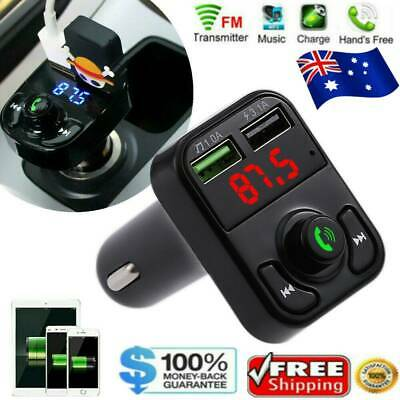 AU10.59 • Buy Wireless Bluetooth FM Transmitter Car Auto Kit Dual-USB Charger Tool Handsfree