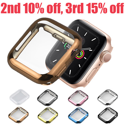 AU4.99 • Buy For Apple Watch 6 SE 5 4 3 2 Full TPU Screen Protector 40 44 38 42 Mm