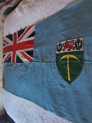British Empire Southern Rhodesia Vintage Panel Stitched Union Jack Flag Old  • 20£