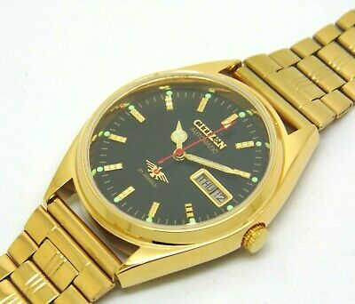 £26.16 • Buy Citizen 8200 Automatic Men Gold Plated Day Date Japan Watch Run Order S16