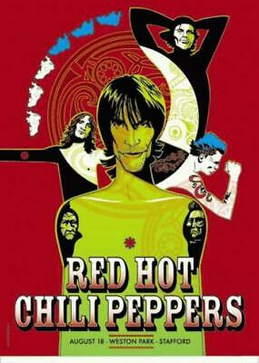 $50 • Buy Red Hot Chili Peppers Concert Poster Uk Tour 2001