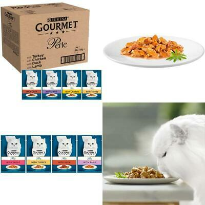 Gourmet Wet Cat Food Perle Country Medley Pouches Balanced Turkey Duck 96 X 85g • 43.52£