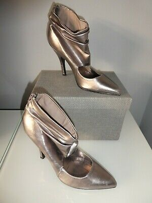 Ladies Boot/shoe/heels Size 4 In Silver/pewter From New Look  • 15£