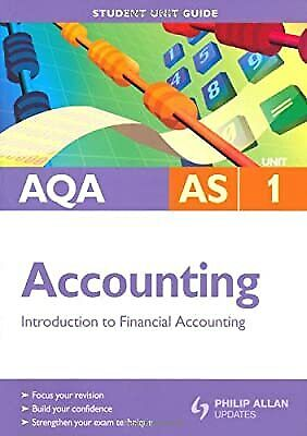 £3.57 • Buy AQA AS Accounting Unit 1: Introduction To Financial Accounting (Aqa As Level), H