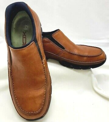 Rockport Xcs Brown Leather Loafers Slip-on Shoes Mens Size 7 1/2 M Nice  • 23.61£