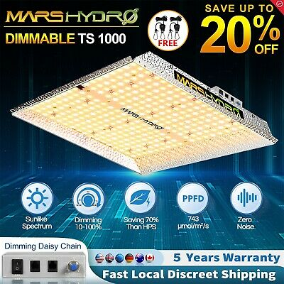 Dimmable Mars Hydro TS 1000W LED Grow Lights Full Spectrum For Indoor Plant HPS • 129.99£