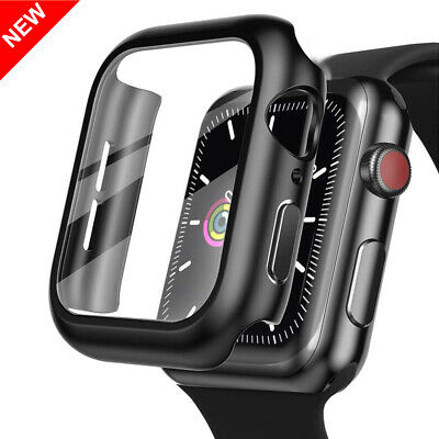 $ CDN5.44 • Buy For Apple Watch Series SE 6 5 4 3 2 Hard Case + Tempered Glass Screen Protector