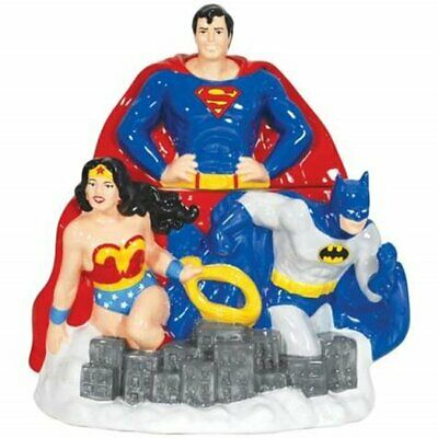 DC Comics Super Heroes Superman, Batman, Wonder Woman Ceramic Cookie Jar, UNUSED • 86.82£