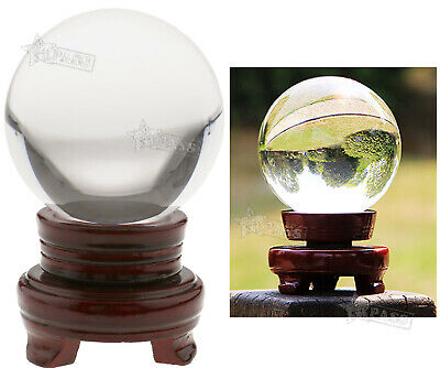 100mm Crystal Ball Asian Natural Quartz Clear Magic Healing Ball With Stand Base • 17.07£