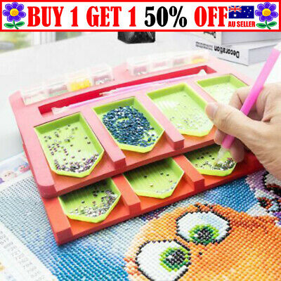 AU12.99 • Buy Diamond Painting Tray Organizer Holder Drill Pens Tools Accessories Art Craft TT