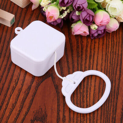 Pull String Cord Music Box White Baby Infant Kids Bed Bell Birthday Gift Toy UK • 5.49£
