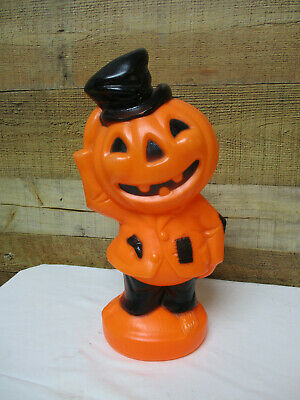 $ CDN60.35 • Buy Vintage Halloween Jack-O-Lantern With Top Hat Lighted Blow Mold 14  With Light