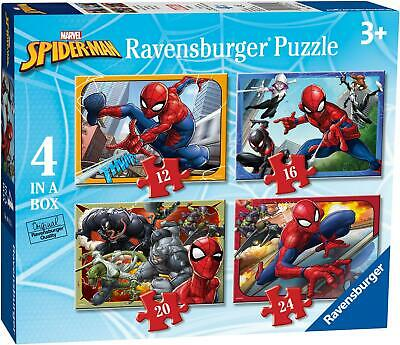 £8.69 • Buy Ravensburger SPIDER-MAN 4 IN A BOX JIGSAW PUZZLES Toys Games BN