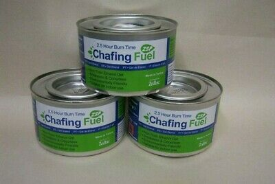 £10.49 • Buy 3 X Ethanol Chafing Gel Fuel Catering 2.5 Hr Burning BBQ Buffet Camping Parties