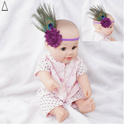 $ CDN7.98 • Buy Baby Feather Headwear Stretch Hair Accessories Peacock Feather For Party