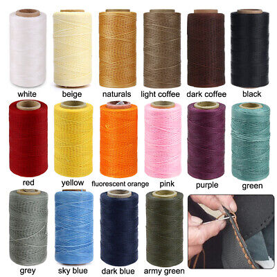 £5.99 • Buy 260M 150D Flat Waxed Sewing Line Thickness Waxed Thread For Leather Craft Thread