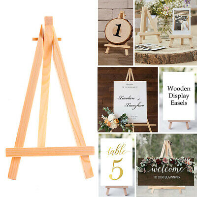 10pcs Mini Wooden Easel Wedding Table Picture Name Card Stand Display Holder DIY • 6.69£