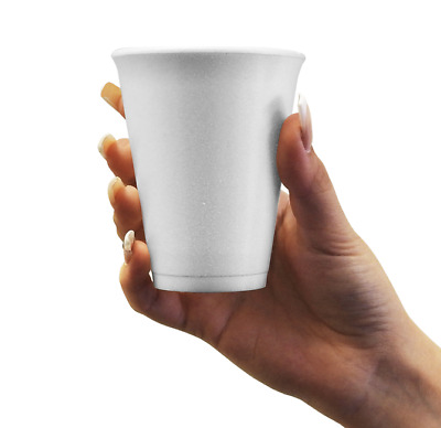 80x Cups DART 10oz Polystyrene Insulated Hot Cold Drink Cofee Disposable Cups  • 11.50£