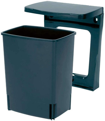 Built-in Bin 10 L Black Compact & Space Efficient Kitchen Bin Sturdy Removable • 29.98£