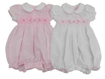 £10.99 • Buy BNWT Baby Girls Spanish Style Summer All In One Smocked Romper Outfit Clothes