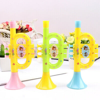 3Pcs Horn Trumpet Toys Cartoon Durable Plastic Early Educational Toys For Kids • 4.52£