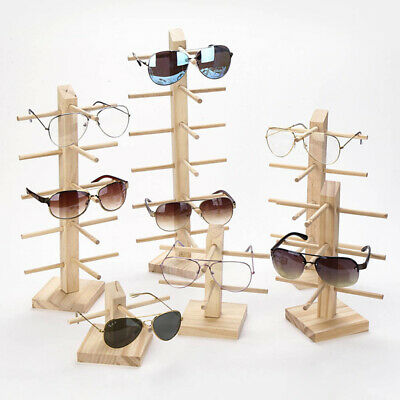 AU12.82 • Buy Wooden Rack Shelf Show Sunglasses Display Stand Eyeglasses Holder Wood Counter