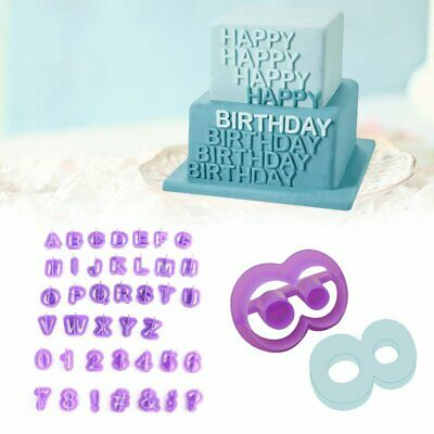 AU9.02 • Buy 40 Alphabet Letter Number Fondant Cake Biscuit Baking Mould Cookie Cutters Stamp