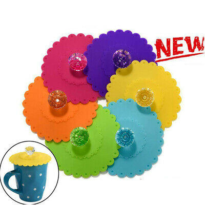 £2.34 • Buy Silicone Cup Lid Glass Drink Cover Anti-dust Coffee Mug Suction Seal Lid Cap