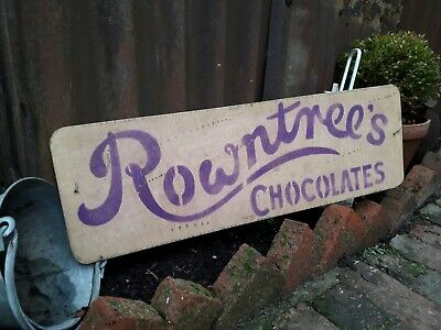 £45 • Buy Rowntrees Chocolate Sign Frys Sweet Shop Prop Mancave Decor Cadburys