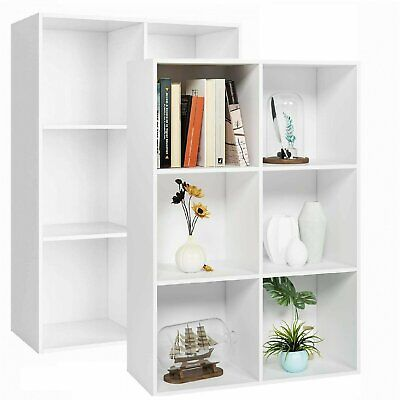 £35.99 • Buy 6 White Cubes Wooden Bookcase Shelving Unit Display Storage Cabinet Home Office