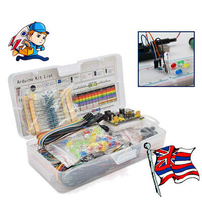 Electronic Component Starter LED Buzzer Resistor Wires Breadboard Transistor Kit • 15.49£