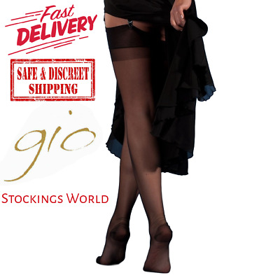 £9.90 • Buy GIO RHT Stockings / Nylons - BLACK - Imperfects TALL NEW