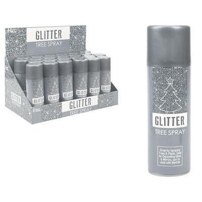 Silver Shiny Glitter Spray Paint Craft Art Decoration Christmas Tree 175ml • 3.49£