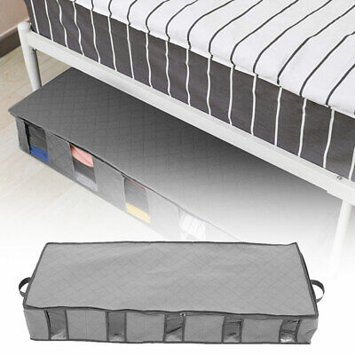 Large Capacity Under Bed Storage Box 5 Compartments Clothes Organiser Bags New • 8.37£