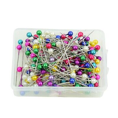 £2.89 • Buy 200 Pearl Head Pins Dressmaking Craft Sewing Hemming Tailors Pins Assorted 38mm