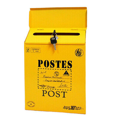 £17.53 • Buy Outdoor Postbox Locking Vertical Mailbox Suggestion Box For Home Improvement