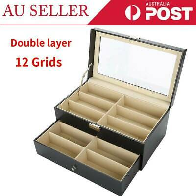 AU38.79 • Buy 12 Grids Sunglasses Glasses Display Storage Case Box Organizer Holder W/ Drawer