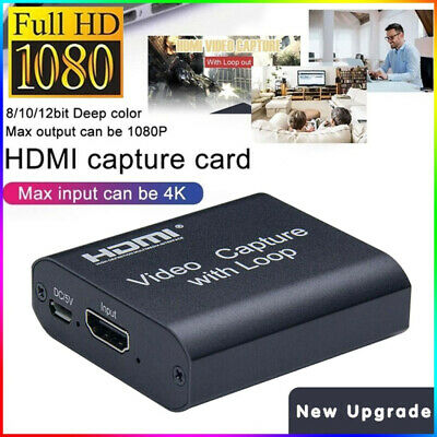 HDMI Video Digtal Capture Card Recorder USB2.0 1080P Game Capture HDTV Streaming • 16.99£