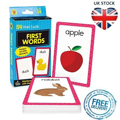 £3.51 • Buy Baby Book First Words Picture Kids Educational Flash Cards Pre School Learning