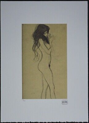 $ CDN148.51 • Buy Gustav Klimt 'Standing Female Nude' 50 X 70 Cm Signed Limited Lithograph