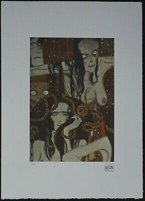$ CDN178.51 • Buy Gustav Klimt 'Beethoven-Fries' 50 X 70 Cm Signed Limited Lithograph