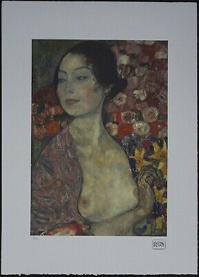 $ CDN178.51 • Buy Gustav Klimt 'The Dancer' 50 X 70 Cm Signed Limited Lithograph