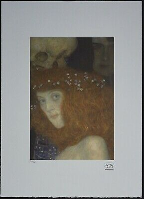 $ CDN178.51 • Buy Gustav Klimt 'Face Of Hope I' 50 X 70 Cm Signed Limited Lithograph