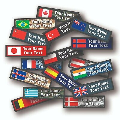 £7 • Buy Personalised Printed Flag Patch, Name Flag Patch, Custom Name Patch,