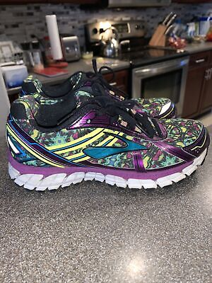 $ CDN39.33 • Buy Brooks GTS 15  Womens Size 7 Running Shoes Lace Up Purple Green Blue