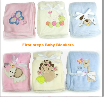 Baby Boy Girl Soft Fleece Blanket Newborn Pram Crib Moses Basket Towel ,Blanket • 6.95£