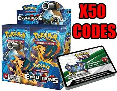 AU12.99 • Buy Pokemon XY Evolutions TCG Online Codes X50 Pack (Emailed)