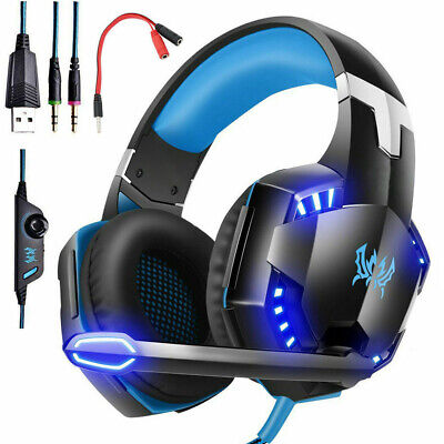 £11.99 • Buy 3.5mm Gaming Headset LED Headphones Mic For PC Laptop PS4 Slim Pro Xbox One S X