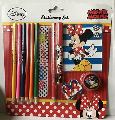 £3 • Buy CHILDRENS DISNEY MINNIE MOUSE 12 PIECE STATIONERY SET - HOME SCHOOLING Free P&p
