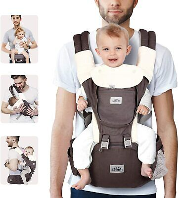 SIMBR Baby Carrier With Hip Seat, Convertible 12-in-1 Ways To Carry, Adjustable  • 46.79£